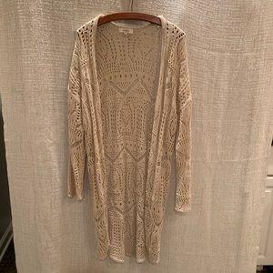 Umgee Crochet Cream Carrigan Sweater S/M